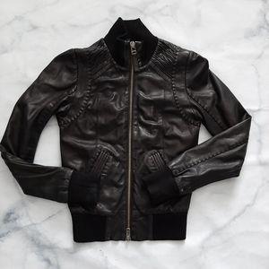 Mackage Aritzia Genuine Lamb Leather Moto Jacket